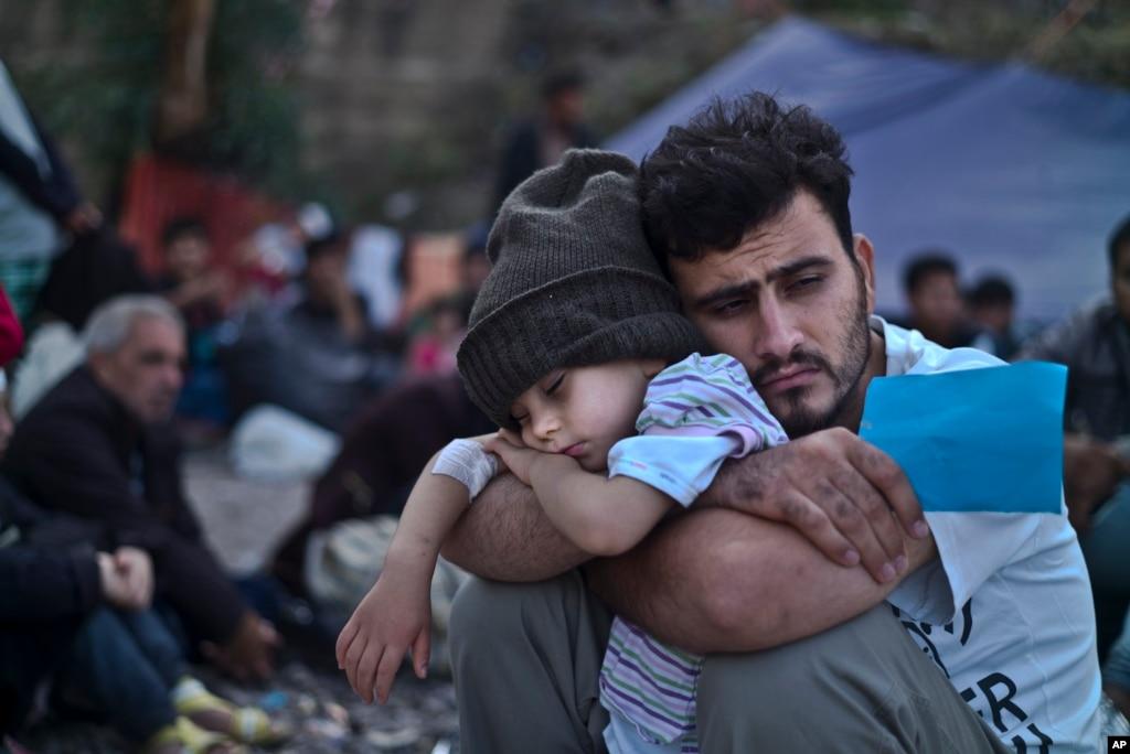 Image result for child refugee greece