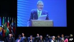 Raúl Castro inaugura la cumbre que durará dos días y culminará con la firma de una declaración con más de 80 puntos en temas de interés para la región, desde la lucha contra la pobreza hasta el desarme.