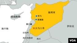 叙利亚及周边国家地图。(资料照片)
