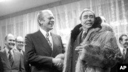 Президент Джеральд Форд і Леонід Брежнєв. 24 листопада, 1974 року.