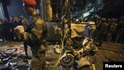 Vojska na mestu eksplozije u Bejrutu