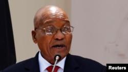 Le président sud-africain Jacob Zuma, 11 octobre 2016.