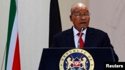 Le président sud-africain Jacob Zuma à Nairobi, Kenya, 11 octobre 2016.