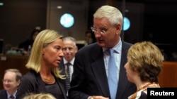 Các Bộ trưởng EU dự hội nghị về Iraq tại ở Brussels, 15/8/14
