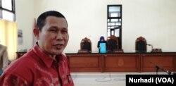 Ngadiyono, Caleg Gerindra yang juga Wakil Ketua DPRD Kabupaten Gunungkidul dicoret namanya dari DCT Pileg 2019. (Foto:VOA/Nurhadi)