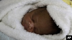 FILE - Gwakwanele, born to mother Nozipho Goqo, at Johannesburg's government hospital.