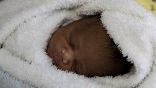 FILE - Gwakwanele, born to mother Nozipho Goqo,  at Johannesburg's government hospital.