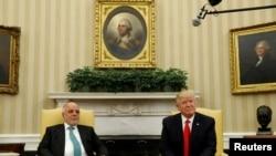 Встреча президента США Дональда Трампа и премьер-министра Ирака Хадера Абади в Белом доме