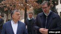 """Predsednik Srbije i premijer Mađarske u Budimpešti (izvor: Instagram nalog """"buducnostsrbijeav"""")"""