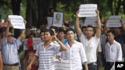 越南早前的反華示威。