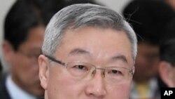 19일 국정감사에서 답변하는 김성환 한국 외교통상부 장관
