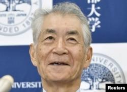 طب کا انعام حاصل کرنے والے جاپان کے سائنس دان تاسو کو ہونجو۔ یکم اکتوبر 2018