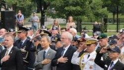 [뉴스 풍경] 워싱턴 한국전 기념공원서 6.25 65주년 기념식 열려
