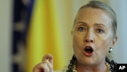Хиллари Клинтон. Сараево, Босния. 30 октября 2012 года