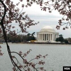 Jefferson Memorial, monumen untuk memperingati Presiden ketiga AS, Thomas Jefferson, adalah salah satu monumen yang ada di kompleks Tidal Basin.