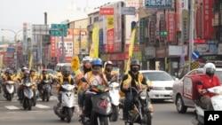 台灣地方選舉當中的摩托車隊助選