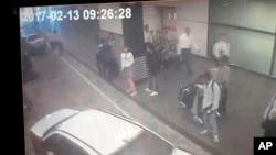 Ảnh chụp từ camera an ninh của nghi phạm ám sát ông Kim Jong Nam.
