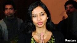 印度駐紐約領事館的副代辦科布拉加德星期五已經返抵印度新德里。