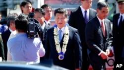 中國國家主席習近平11月17日抵達馬尼拉出席APEC鋒會。