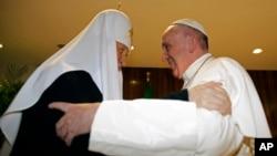 Papa Franja i patrijarh Kiril, 12. februar 2016.