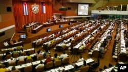 지난해 7월 쿠바 아바나 의회에서 의원들이 의정활동 중이다. (자료사진)