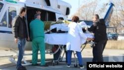 Prijem povrijeđenih radnika u KCCG u Podgorici (rtcg.me)