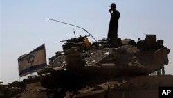 سرباز اسرائیلی در مرز غزه