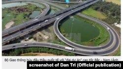 Cao tốc Bắc-Nam là dự án trọng điểm của Việt Nam