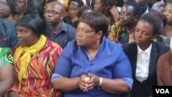 Zimbabwe People First leader Joice Mujuru.