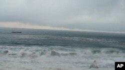 三月十一日海嘯巨浪正衝向福島核電站