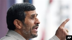 Iranian President Mahmoud Ahmadinejad (file photo)