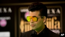Bollywood film maker Karan Johar, seen in this June 2016 photo, released a video message asking Hindu nationalist protesters to not disrupt the Oct. 28 release of his big-budget romantic drama 'Ae Dil Hai Mushkil,' or 'Difficulties of the Heart,' which features Pakistani actor Fawad Khan in a small role.
