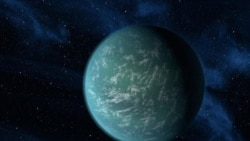 NASA artist rendering of Kepler-22b, a planet known to comfortably circle in the habitable zone of a sun-like star