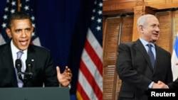 (ຮູບຊ້າຍ) ປະທານາທິບໍດີ ໂອບາມາ ຖະແຫຼງໃນລະຫວ່າງການໂຄສະນາຫາສຽງ ເພື່ອຊອກຫາເງິນທຶນສຳຫຼັບ ການເລືອກຕັ້ງ ທີ່ນະຄອນນິວຢອກ ເມື່ອວັນທີ 1 ມີນາ 2012. (ຮູບຂວາ) ນາຍົກລັດຖະມົນຕີການາດາ ທ່ານ Stephen Harper (ຂວາ) ຈັບມືກັບນາຍົກລັດຖະມົນຕີອິສຣາແອລທ່ານ Benjamin Netanyahu ທີ່ນະຄອ