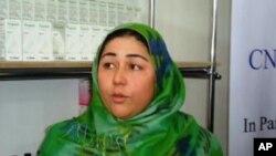 منیژه قاضی زاده مسوول مركز خدمات زراعتی برای زنان در بلخ