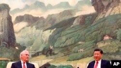 Госсекретарь США Рекс Тиллерсон и председатель КНР Си Цзиньпин