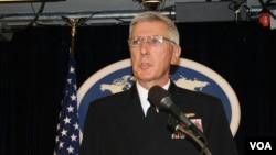 美军太平洋司令部司令洛克利尔上将(美国之音钟辰芳拍摄)
