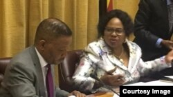 Information Minister Monica Mutsvangwa At Ministerial Briefing April 2