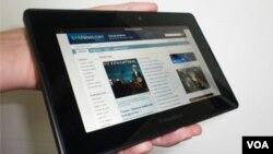 Tanto en su posición vertical como horizontal podremos usar el PlayBook agarrándolo con una sola mano.