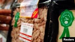 Makanan berlabel halal di pasar swalayan di Paris. (Foto: Dok)