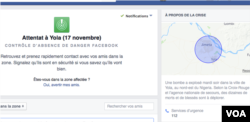 FILE - A screenshot of a Facebook Safety Check page is shown from Nigeria.