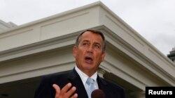 John Boehner a réitéré sa position contre toute hausse d'impôt, sur la chaine de télévision ABC, ce dimanche