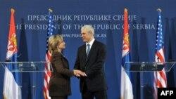 Хиллари Клинтон и Борис Тадич. 12 октября 2010г.