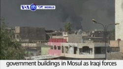 VOA60 World PM - Iraqi Troops Seize Government Buildings in Western Mosul
