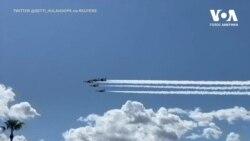 Льотчики ВПС США пролетіли над Лас-Вегасом на знак солідарності з медиками, які ведуть боротьбу з коронавірусом. Відео