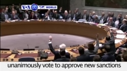 VOA60 World - The U.N. Security Council members unanimously vote to approve new sanctions for North Korea