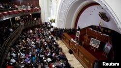 8일 베네수엘라 카라카스에서 새로 출범한 제헌의회 회의가 열렸다.