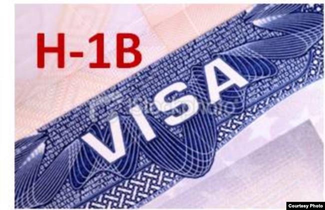 Detail of an H-1B visa