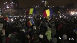 Protesters Target Anti-corruption fight in Romania