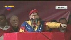 Chávez oficializa su candidatura a la presidencia